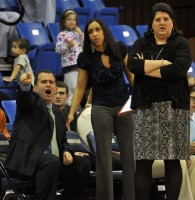 Quinnipiac 77, Wagner 60Quinnipiac assistant coach Mountain MacGillivray and head coach Tricia Fabbri look on in the first half of Saturday's game.