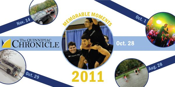 2011 was one of those years that didn't seem too eventful upon its exit, until we looked back through the Chronicle archives and realized 2011 was actually action-packed. Check out Quinnipiac's top stories of 2011: from January through December, from concerts at The Bank to construction at Mount Carmel, from arrests to Irene, it's all here in our new gallery.  –Compiled by Michele Snow, Christine Burroni, Kim Green, Nicole Fano, Sarah Rosenberg, Katherine Rojas, and Meghan Parmentier.