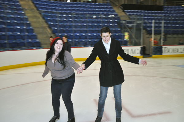 Students took to the ice for ValenSkate on Tuesday night.