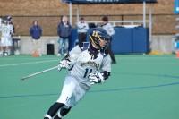 Quinnipiac vs. Vermont men's lacrosse scrimmageQuinnipiac's Dylan Webster getting into position.