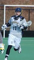 Quinnipiac vs. Vermont men's lacrosse scrimmageQuinnipiac's Dylan Webster rushes into position.