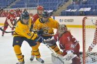 Quinnipiac 5, RPI 1Quinnipiac's Kelly Babstock scores a goal in the second period of Saturday's game vs. RPI.