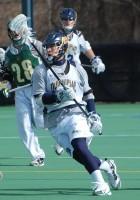 Quinnipiac vs. Vermont men's lacrosse scrimmageQuinnipiac's Chris Coppolecchia on defense.