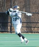 Quinnipiac vs. Vermont men's lacrosse scrimmageQuinnipiac's Jay Binkowski readies to fire on net.