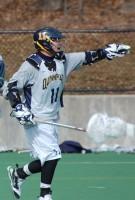 Quinnipiac vs. Vermont men's lacrosse scrimmageQuinnipiac's Dylan Webster commands field position.