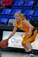 Quinnipiac 64, St. Francis (N.Y.) 41  Lisa Lebak looks to make a play during Monday's win.