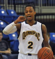 St. Francis (N.Y.) 64, Quinnipiac 56Quinnipiac guard Dave Johnson signals for a play call in the first half of Thursday's game vs. St. Francis (N.Y.).
