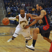 Quinnipiac 73, Robert Morris 69Quinnipiac's Dave Johnson drives to the hoop in the first half of Saturday's game.