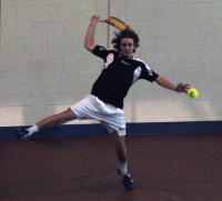 Quinnipiac 5, Saint Francis (Pa.) 2Quinnipiac's Andrew Weeden returns a volley in Sunday's match vs. Saint Francis (Pa.).
