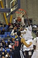 St. Francis (N.Y.) 64, Quinnipiac 56Quinnipiac's Ousmane Drame dunks the ball in the first half of Thursday's game vs. St. Francis (N.Y.).