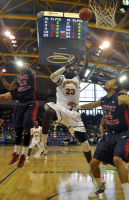 Quinnipiac 73, Robert Morris 69Quinnipiac's Ousmane Drame goes for a layup in the first half of Saturday's game.