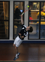 Quinnipiac 5, Saint Francis (Pa.) 2Quinnipiac's Andrew Weeden serves the ball in Sunday's match vs. Saint Francis (Pa.).
