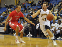 Quinnipiac 77, Saint Francis (Pa.) 44Quinnipiac's Evan Conti drives in the second half of Thursday's game vs. Saint Francis (Pa.).