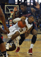 Quinnipiac 73, Robert Morris 69Quinnipiac's James Johnson drives to the hoop in the first half of Saturday's game.