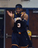 Quinnipiac 67, CCSU 59Quinnipiac's James Johnson claps his hands after a call in the second half of Sunday's game vs. CCSU.