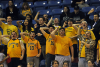 St. Francis (N.Y.) 64, Quinnipiac 56Quinnipiac fans react after a St. Francis (N.Y.) player airballs a shot in the second half of Thursday's game.