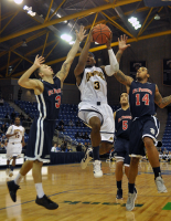 St. Francis (N.Y.) 64, Quinnipiac 56Quinnipiac's James Johnson drives for a layup in the second half of Thursday's game vs. St. Francis (N.Y.).