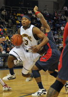 Quinnipiac 73, Robert Morris 69Quinnipiac's James Johnson drives to the hoop in the second half of Saturday's game.