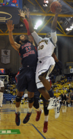 Quinnipiac 73, Robert Morris 69Quinnipiac's Garvey Young goes for a layup in the second half of Saturday's game.