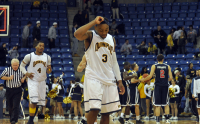 St. Francis (N.Y.) 64, Quinnipiac 56Quinnipiac's James Johnson reacts as the buzzer sounds after Quinnipiac loses to St. Francis (N.Y.) Thursday night.