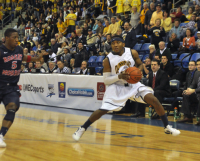 Quinnipiac 73, Robert Morris 69Quinnipiac's James Johnson steps back for a 3-pointer in the second half of Saturday's game.