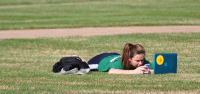 Fun in the sunA Quinnipiac student spends time outside on the Quad Thursday afternoon enjoying the sun.