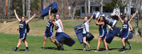 Fun in the sunQuinnipiac rugby players return from practice at Alumni Field Thursday afternoon.