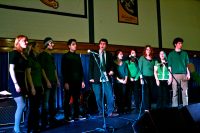 Battle of the BandsAcapella group performs during intermission at Battle of the Bands.