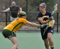 Vermont 18, Quinnipiac 9Quinnipiac's Marissa Caroleo controls the ball in the first half of Wednesday's game vs. Vermont.