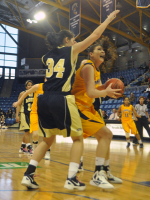 Quinnipiac 65, Mount St. Mary's 61Quinnipiac's Samantha Guastella goes for a layup in the first half of Saturday's game vs. Mount St. Mary's.