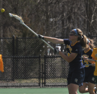 Vermont 18, Quinnipiac 9Quinnipiac's Michaela Tinsley takes a shot in the first half of Wednesday's game vs. Vermont.