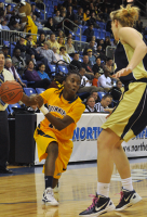 Quinnipiac 65, Mount St. Mary's 61Quinnipiac's Felicia Barron passes the ball in the first half of Saturday's game vs. Mount St. Mary's.