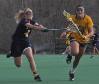 Vermont 18, Quinnipiac 9Quinnipiac's Devon Gibney defends a Vermont player in the second half of Wednesday's game.