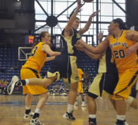 Quinnipiac 65, Mount St. Mary's 61Mount St. Mary's Sandra Andresson passes the ball in the first half of Saturday's game vs. Quinnipiac.