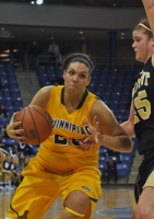 Quinnipiac 65, Mount St. Mary's 61Quinnipiac's Brittany McQuain drives to the hoop in the first half of Saturday's game vs. Mount St. Mary's.