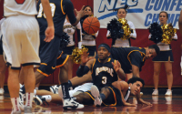 Quinnipiac 80, St. Francis (N.Y.) 72Quinnipiac's James Johnson goes for a loose ball in the first half of Thursday's game vs. St. Francis (N.Y.).