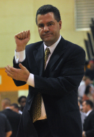 LIU-Brooklyn 78, Quinnipiac 75Quinnipiac head coach Tom Moore signals to a referee during a timeout in the second half of Sunday's game.