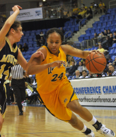 Quinnipiac 65, Mount St. Mary's 61Quinnipiac's Jasmine Martin drives to the hoop in the second half of Saturday's game.