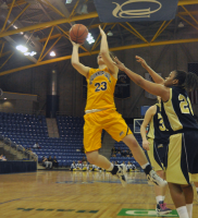 Quinnipiac 65, Mount St. Mary's 61Quinnipiac's Nikoline Ostergaard goes for a layup in the second half of Saturday's game vs. Mount St. Mary's.