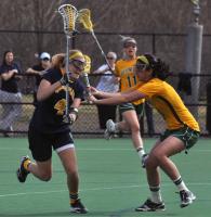 Vermont 18, Quinnipiac 9Quinnipiac's Devon Gibney finds a lane in the second half of Wednesday's game vs. Vermont.