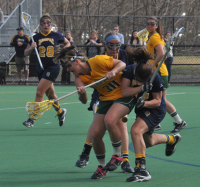 Vermont 18, Quinnipiac 9Quinnipiac's Kiera Carey vies for the ball with a Vermont player in the second half of Wednesday's game.