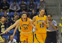 Quinnipiac 65, Mount St. Mary's 61Quinnipiac's Samantha Guastella celebrates after the Bobcats beat Mount St. Mary's Saturday afternoon.