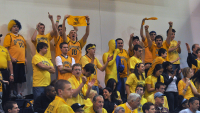 LIU-Brooklyn 78, Quinnipiac 75Quinnipiac fans cheer in the second half of Sunday's game.