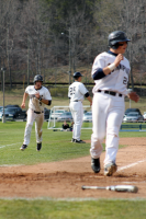The Quinnipiac baseball team beat Mount Saint Mary's in the second game of their doubleheader on Saturday, April 14Quinnipiac's Kyle Nisson makes a run during their game on Saturday