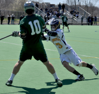 Quinnipiac 15, Wagner 5Quinnipiac's Matt Kycia plays defense in the first quarter of Saturday's game vs. Wagner.