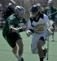 Quinnipiac 15, Wagner 5Quinnipiac's Matt Diehl controls the ball in the first quarter of Saturday's game vs. Wagner.