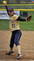 Quinnipiac 5, Sacred Heart 4Quinnipiac's Heather Schwartzburg pitches in game 2 of Sunday's doubleheader vs. Sacred Heart.