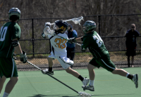 Quinnipiac 15, Wagner 5Quinnipiac's Brendan Wilbur takes a shot in the third quarter of Saturday's game vs. Wagner.