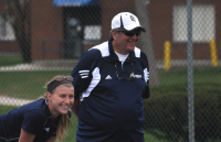 UMass 6, Quinnipiac 1Quinnipiac's Sarah Viebrock and head coach Mike Quitko laugh in Sunday's match vs. UMass.