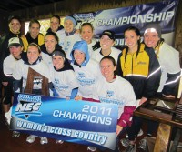 The Quinnipiac women's cross country team won its seventh consecutive Northeast Conference Championship in October. The Bobcats placed first out of 12 teams with 44 points. The top three runners for Quinnipiac crossed the line within seconds of each other as Morgan Roche finished fifth overall, followed by teammate Andrea Szarkowicz in sixth, and Brianna Faust in seventh place. The Bobcats qualified for the NCAA Division I Northeast Regionals, where they finished 20th out of 36 teams. - Kerry Healy